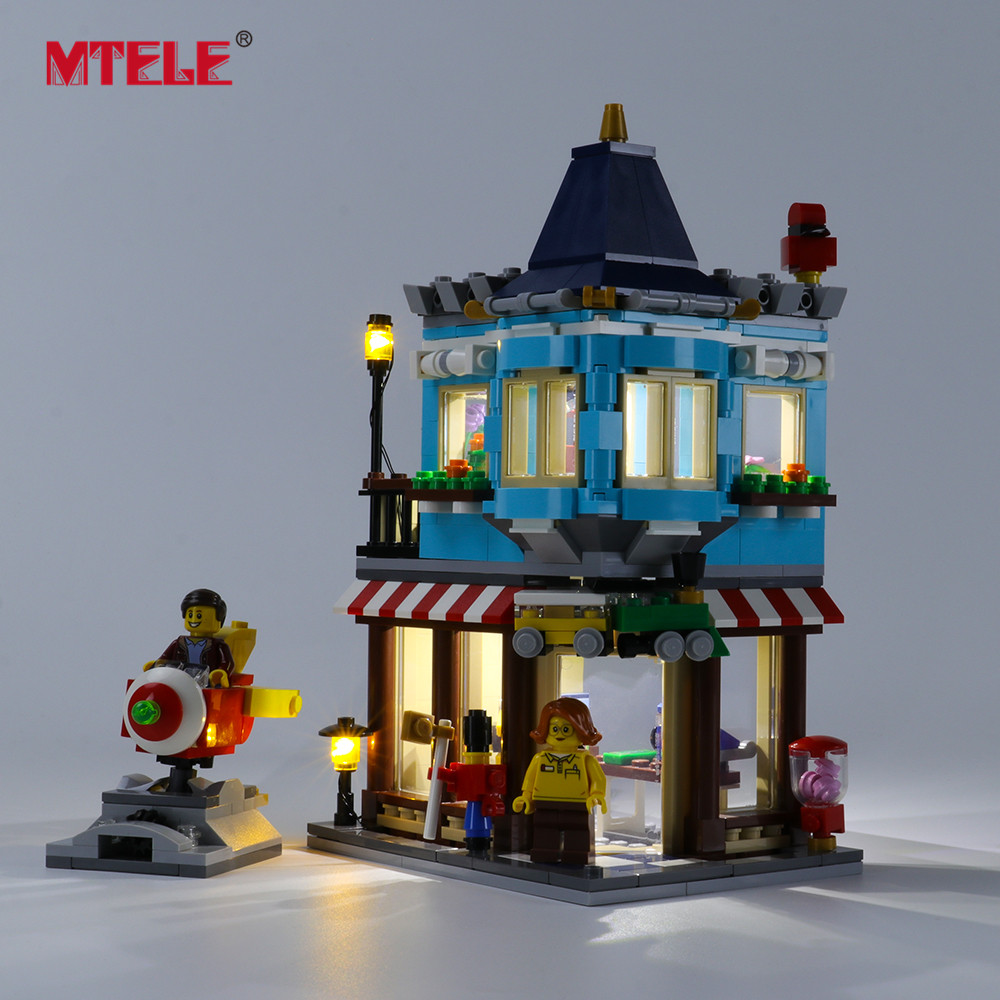 MTELE marque lumière LED Up Kit pour créateur maison de ville jouet magasin ensemble d'éclairage Compatible avec 31105