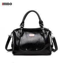 Black Oil PU Leather Satchel Handbag Women Brand Luxury 2019 Vintage Rivets Crossbody Bag for Women Lady Large Office Tote Purse цена