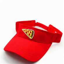 personality Pizza embroidery Visors Baseball Cap Adjustable