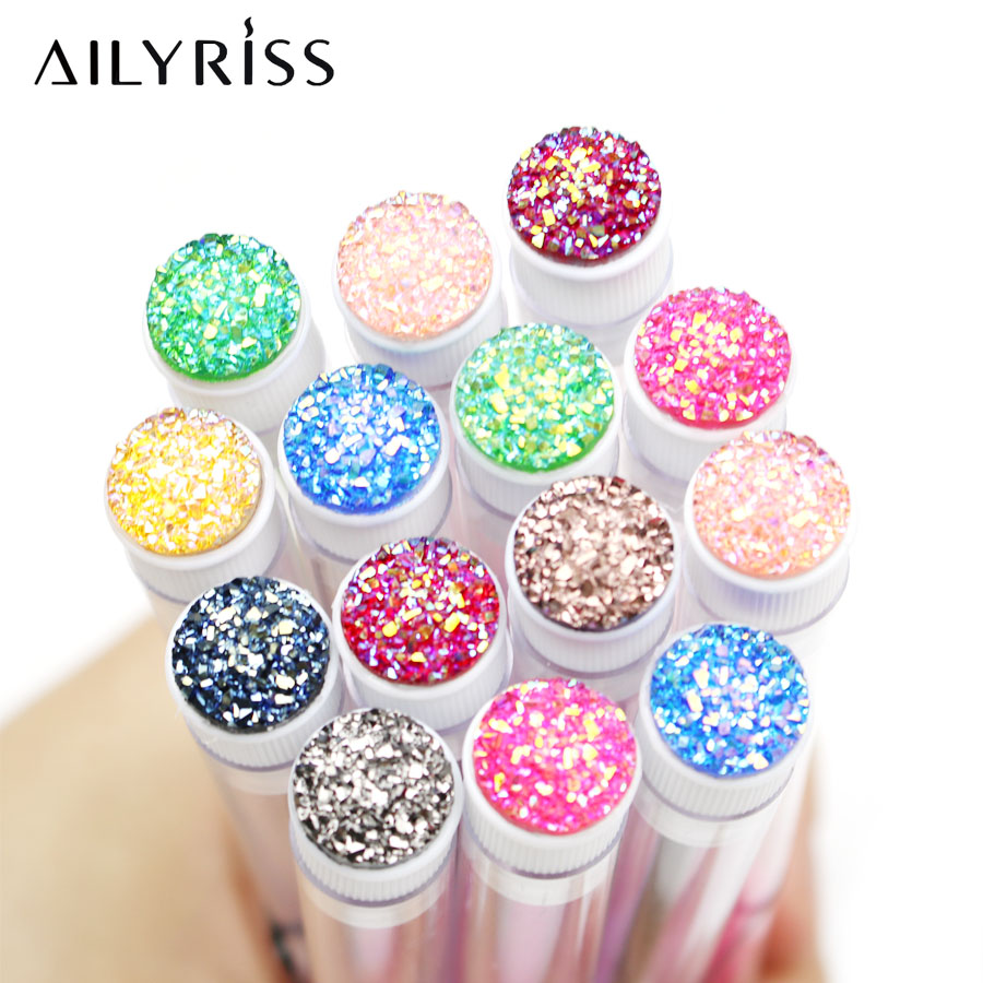 6/12 PCS Disposable Brush For Eyelash Extension Separate Tube Design With DIY Decoration Round Rhinestone Personal Brush