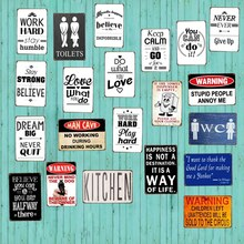 Do What You Love/Dream/Toliets/Warning Retro Metal Sign Wall kitchen Apartment Club Home Art Vintage Decor Poster Iron Painting(China)