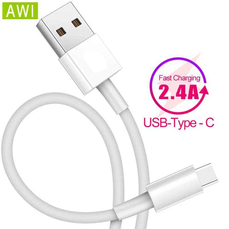 AWI Type C Cable for Samsung S8 S9 Note 9 USB C 2.4A Fast Charging for Xiaomi Pocophone F1 USB Data Cord for Oppo type c Cable|Mobile Phone Cables| |  - AliExpress