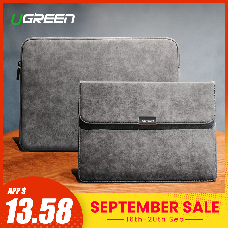 Ugreen Laptop Bag Leather Notebook Bag Case Cover For Macbook Air Macbook Pro 13 Case Laptop Funda IPad Pro Air Sleeve Case