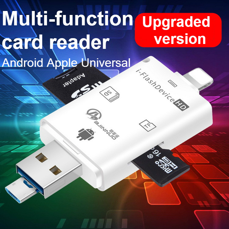 Multi-function USB OTG Card Reader Universal Micro USB OTG TF/SD Card Reader Phone Extension Adapter For Apple Android General