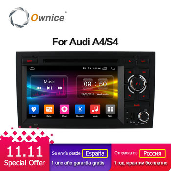Ownice Android 6.0 Octa 8 Core 2G RAM 32G ROM Car DVD Player For Audi A4 2002-2007 Seat Exeo 2009-2012 Radio GPS Navi 4G SIM