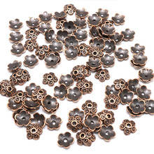Alloy End Caps Pattern Bead Caps Tibetan Silver plated Small Flower Beads Caps Mix Spacer Beads jewelry making 7mm 100/200pcs