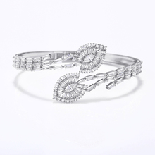 VERY GIRL Luxury Cuff Bangle Bracelet Micro Pave Cubic Zircon Open  for Women