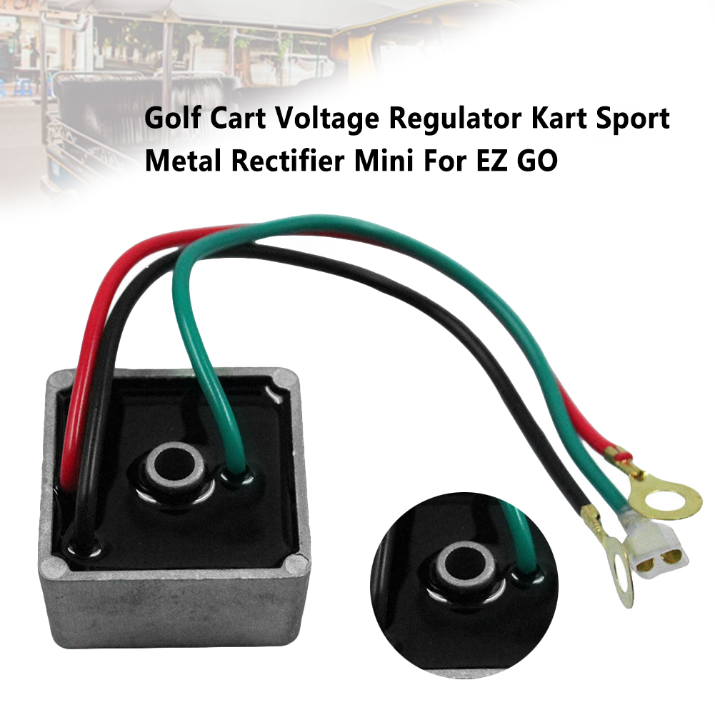27739G01 Mini Durable Golf Cart Voltage Regulator Metal Rectifier Accessories Single Hole Sport Club Car Kart For EZ GO