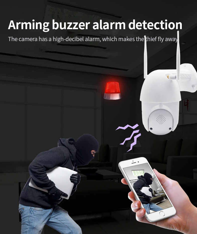 He3cc6230c2d04122a7f2b582d7ee0adab Q1 Outdoor PTZ Wireless IP Camera Move Detection Infrared Night Vision Waterproof Surveillance RJ45/Wifi Dome CCTV Camera