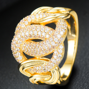 Image 4 - GODKI Luxury Link Chain Bold Rings with Zirconia Stones 2020 Women Engagement Party Jewelry High Quality