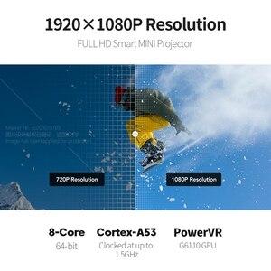 Image 3 - AUNโปรเจคเตอร์DLP 1080P Full HDความละเอียดพื้นเมืองAndroid 7.1 5G WIFI 8000MAhแบตเตอรี่3D Mini 4Kโปรเจคเตอร์โฮมเธียเตอร์แบบพกพา