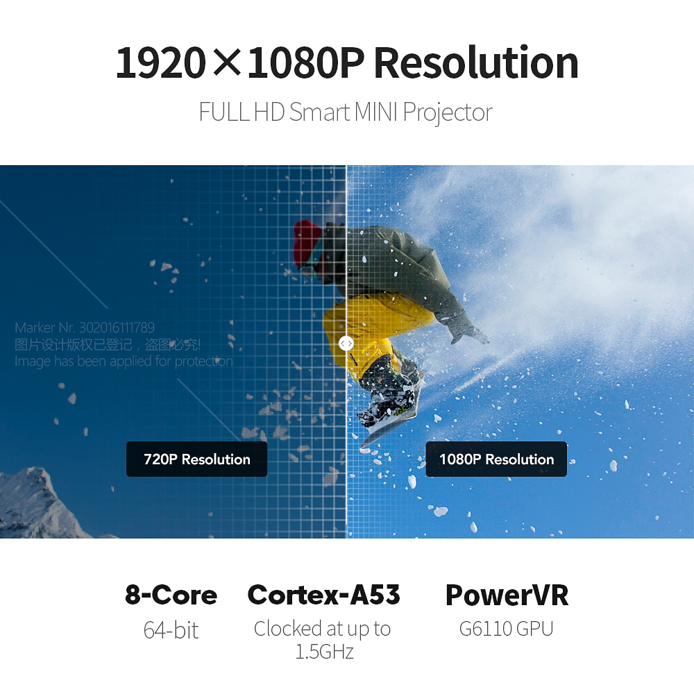 AUN pełny projektor HD DLP D9, Android 7.1 (2G + 16G) bateria 4000 mAh, 5G WIFI, MINI projektor 3D, przenośny Beamer na zewnątrz