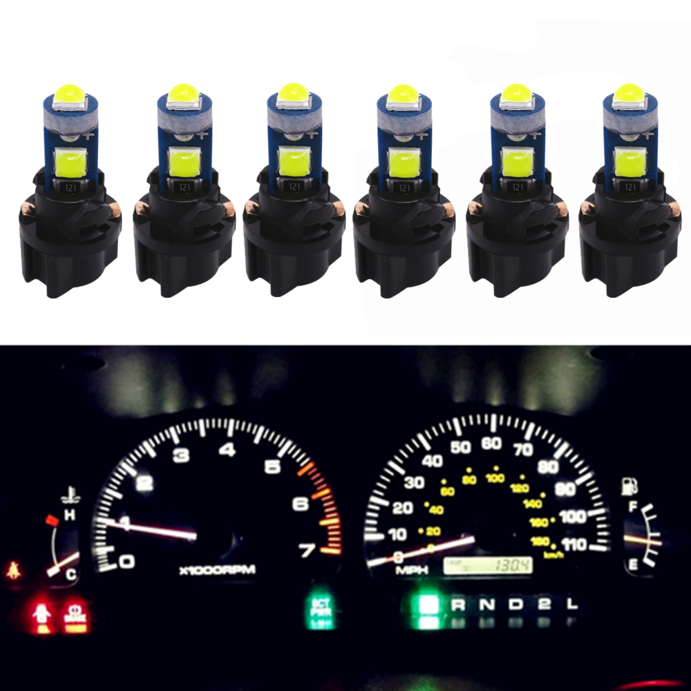 Ideal for Interior Instrument Panel Gauge Cluster Dash Map Vanity Mirror Glove Box Indicator Warning Lights Green 10 Pack T5 37 74 286 2721 W3W Led Mini Bulb WLJH High Bright LED Bulbs