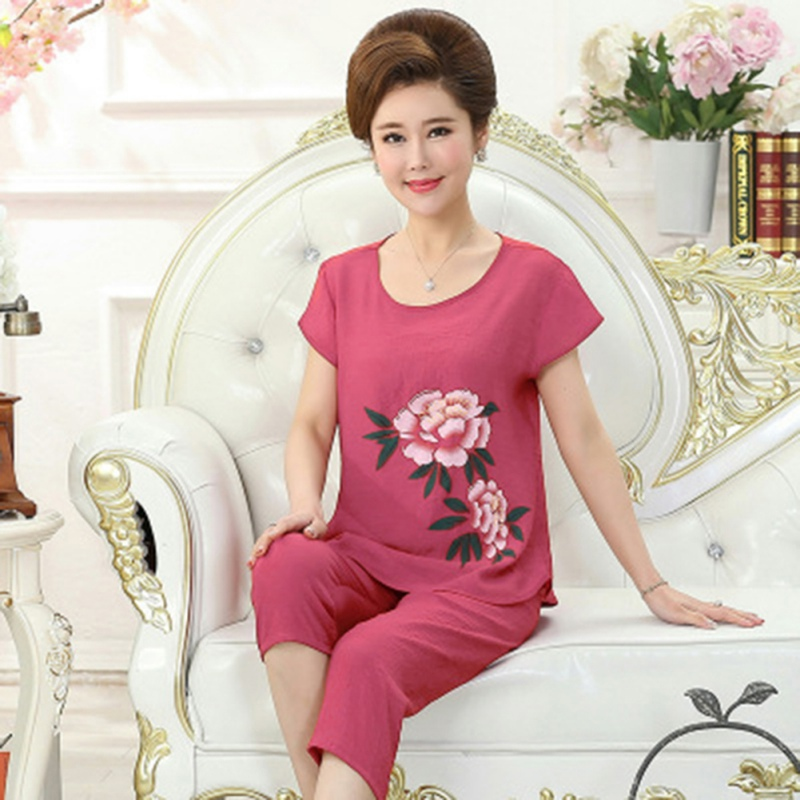 Women\'s Sleepwear Pajamas Sets Casual Wear Home Service Suit Plus Size 4XL Nighwear Outfits