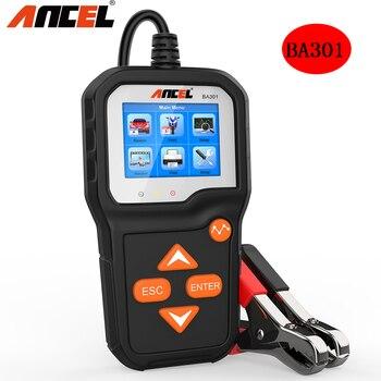 ANCEL BA301 probador de batería 12V /6V Analizador de sistema de batería de motocicleta de coche PK KW600 Carga de coche herramientas de prueba de manivela