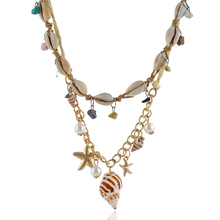 Shell Necklace Choker For Women White Conch Girls Vintage Statement Multi-layer Summer Beach Collier Coquillage Seashell Chain цена 2017