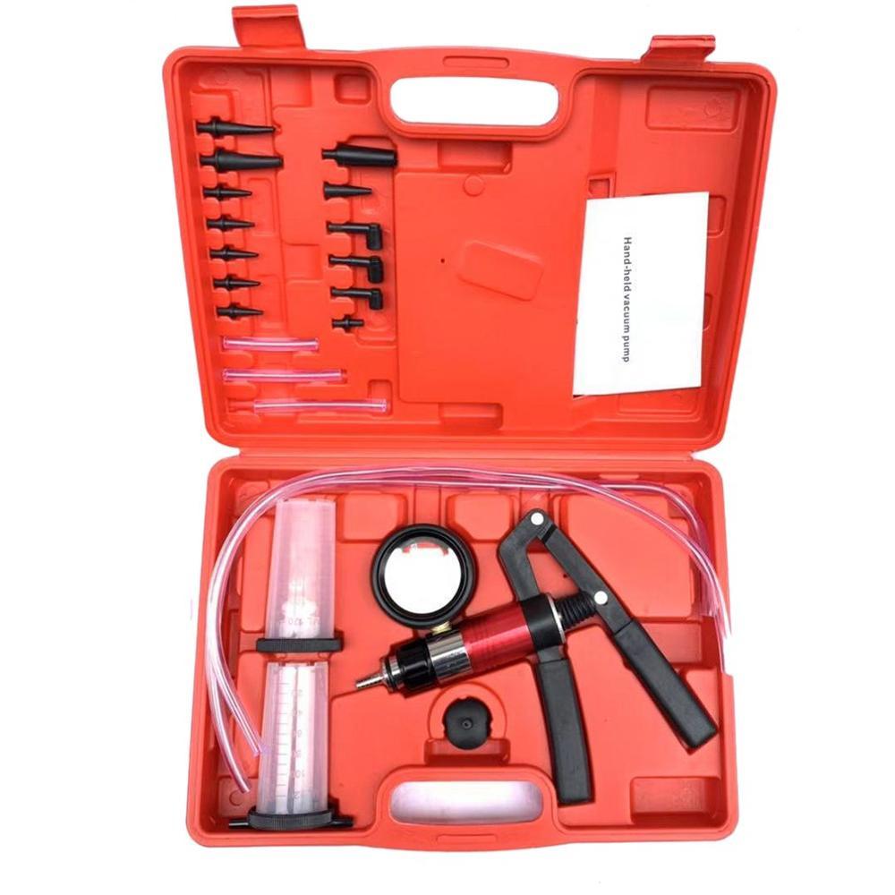 Automobile Vacuum Pump Manual Pumping Dual-use Negative Pressure Suction Brake Oil Replacement Detector Repair Tool