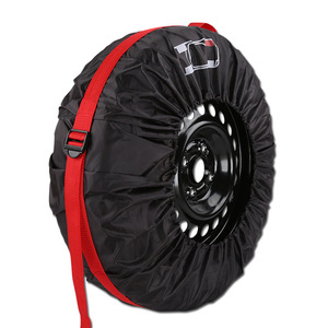 Image 5 - 4Pcs/Lot Car Spare Tire Cover Case Polyester Auto Wheel Tires Storage Bags Vehicle Tyre Accessories Dust proof Protector Styling