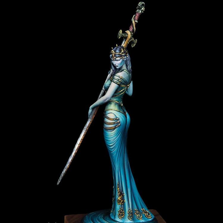 Unpainted 1//10 Lake Vampire Beauty Girl Bust Resin Figure Model Kit Unassembled