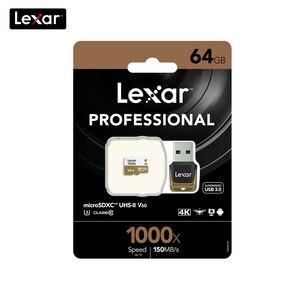 Image 5 - 100% Lexar dorigine 150 mo/s 1000x Micro SD classe 10 64 go micro SDXC tf lecteur de carte mémoire UHS pour Drone Sport caméscope
