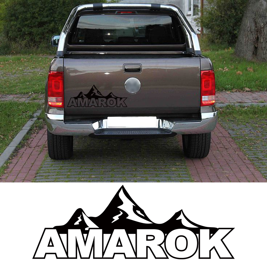 Free Shipping Mountain Racing Door Tailgate Stripe Graphic Vinyl Car Sticker Fit For For Vw Amarok 2009-2018
