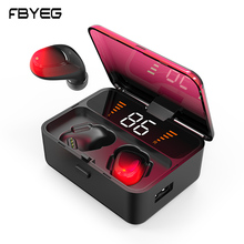 ES01 TWS LED Bluetooth Earphones  V5.0 Touch Wireless Headphones 9D Stereo Sports Waterproof Handsfree Headset With Microphone