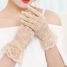 1Pair 2019 Fashion Bride Dress Gloves Women Girls Breathable Lace Finger Evening Party Accessory Elegant Gloves