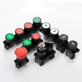 22mm self reset push button switch xb2 ba35c zb2 ba45c flat momentary electric screws red yellow green 1no 1nc XB2 1NC / NO momentary self-reset button switch 22mm start stop button, flat touch switch button with arrow symbol power starter