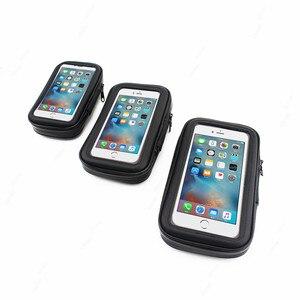 Image 5 - Universal Waterproof Bicycle Motorycle Phone Holder Bags Motorbike Rear View Mirror Stand Mount Bracket GPS Support 6.5 Phone