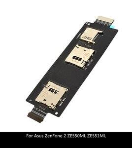 Запасные части для ASUS ZenFone 2, 5,5 дюйма, ZE551ML, ZE550ML, держатель для SIM-карты, разъем, гибкий кабель
