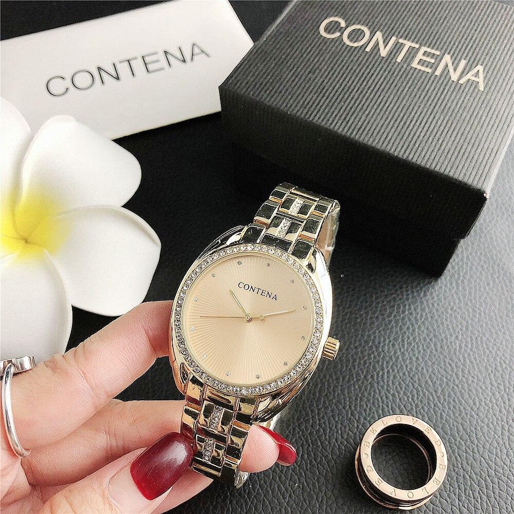 Women's Watch 2021 Top Brand Luxury Diamond Dial Wristwatch Ladies Dress Watch Silver Gold Gift for Women Zegarek Damski