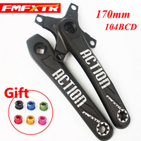 Mountain Bike Crank 170mm Aluminum Alloy Crankset Square Hole104BCD Single/Double/Triple MTB Bike Chain Set Bike Parts