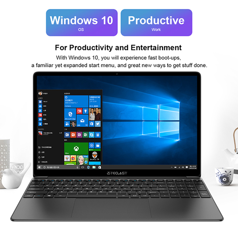 Teclast F15S 15.6 Inch IPS Laptop 1920x1080 FHD PC Windows 10 Notebook 8GB RAM 128GB ROM Intel Apollo Lake Dual Wifi-3