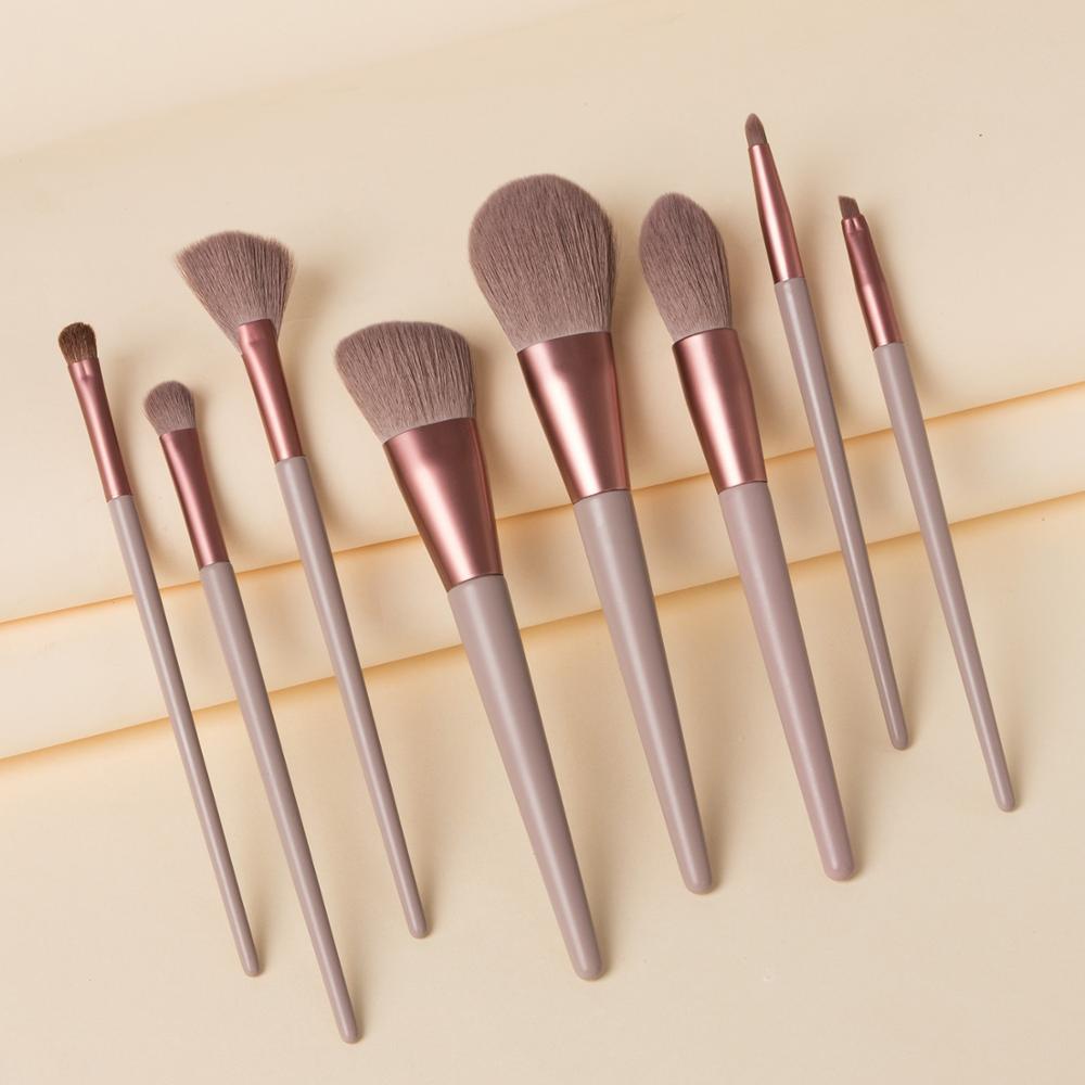 Large Makeup Brush Set White Concealer Foundation Blush Powder Blend Cosmetic Make Up Brushes Eyeshadow Fan Highlighter Brush