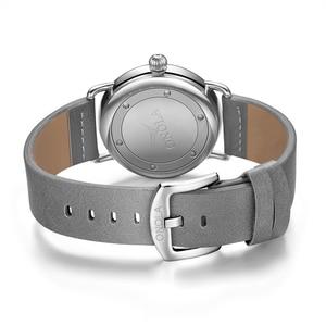 Image 5 - ONOLA Reloj sencillo de acero inoxidable para hombre, reloj de pulsera masculino, de cuero genuino, elegante, informal, resistente al agua, 2019