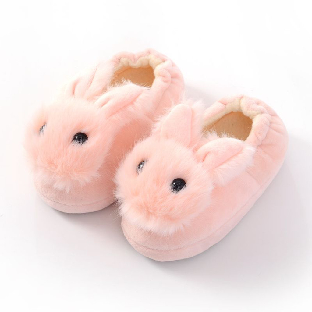 Toddler Infant Slippers Kids Baby Warm Shoes Boys Girls Cartoon Soft-soled Home Shoes Kids Winter Slippers Zapatillas Bebe 2019