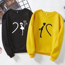 Женская и мужская рубашка; сезон весна-осень-зима; парная рубашка с разделенным сердцем для влюбленных пар; для мальчиков и девочек; уличная одежда; Топ; футболка