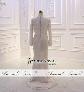 Image 5 - Nowy projektant suknia ślubna muzułmańska suknia ślubna 2020