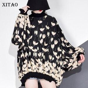 Image 1 - XITAO 쉬폰 인쇄 패턴 블라우스 패션 새로운 여성 2020 봄 풀 슬리브 풀오버 우아한 소수 캐주얼 셔츠 GCC3233