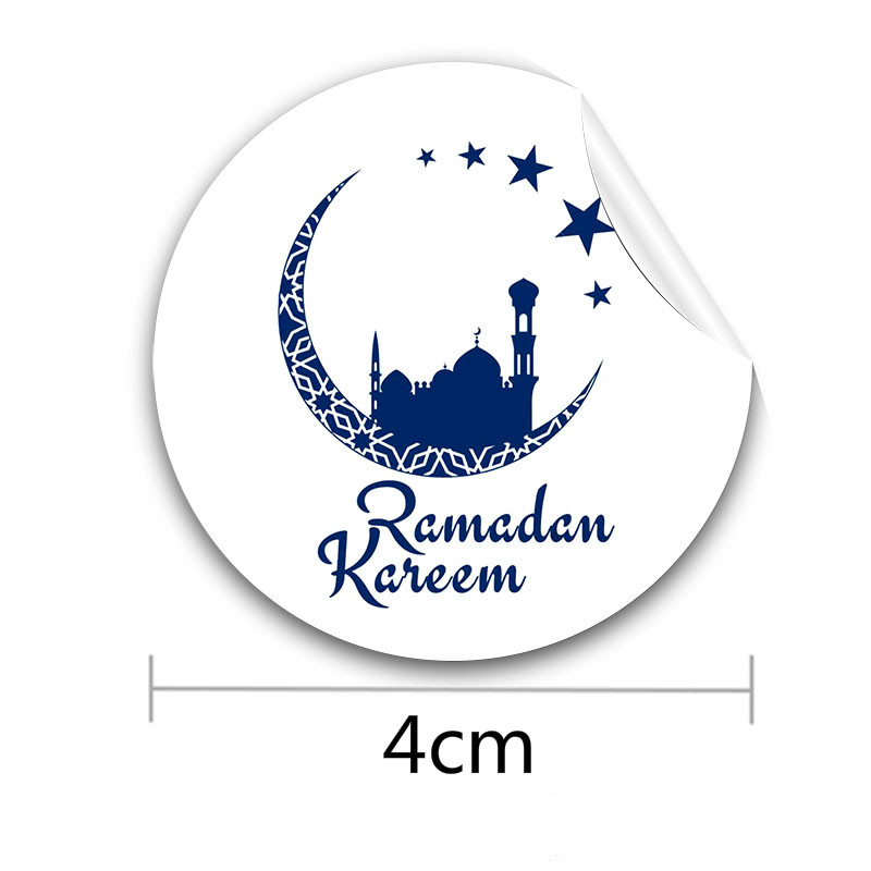 4cm New 24Pc/bag Eid Mubarak Sticker Decorations for Ramadan Mubarak Decoration Muslim Island Decor for Gift Box Stickers Decor