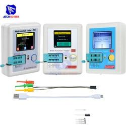 Цветной ЖК-дисплей diymore 160*128, Многофункциональный тестер транзисторов TFT с подсветкой для диодов, триодов, конденсаторов, Резисторов