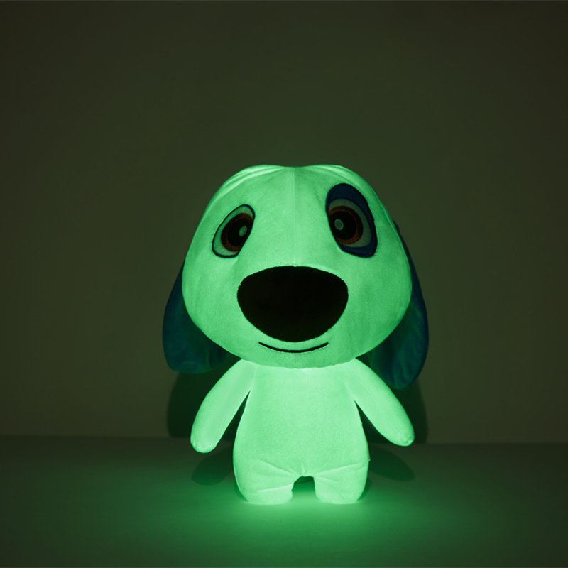 Glow In The Dark Dog Toy 15CM Luminous Stuffed Animal Plush Hank Talking Tom And Friends Safety Material Christmas Birthday Gift