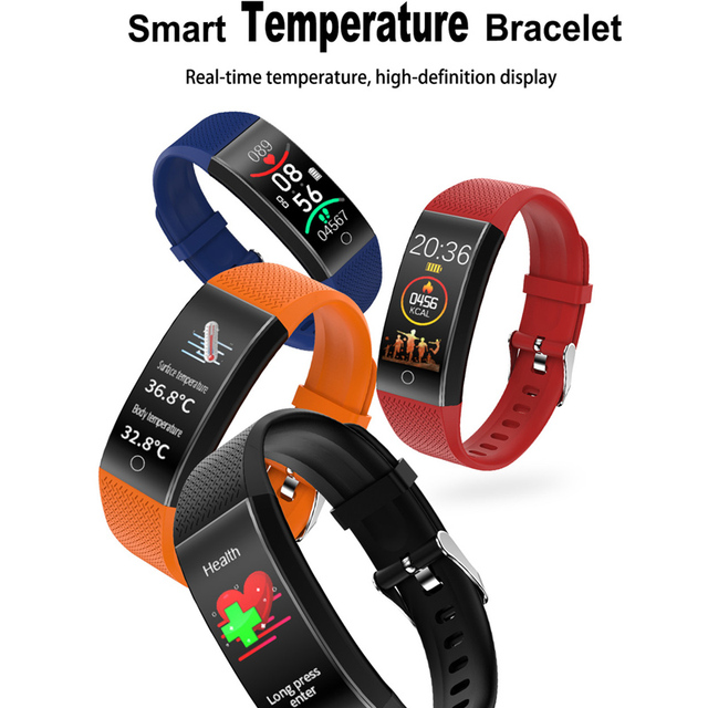Smart Watch Body Temperature Smartwatch Ip68 Waterproof Heart Rate Fitness Tracker Smart Watches Men Women For Android IOS 2020 2