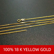 NYMPH Genuine 18K Yellow Gold Chain Fine Jewelry Real au750 Necklace Pendant 40cm 45cm 80cm Wendding Party Gift For Women X312