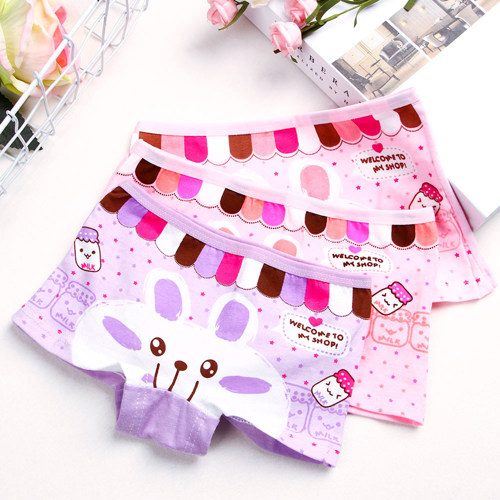 New Type Fashion Panties Lovely Cartoon Rabbit Baby Girls Short Panties Children Knickers Panties