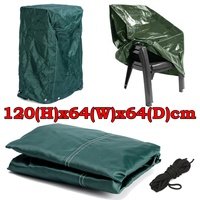 120x64x64cm Practical Outdoor Garden Furniture Stacking Chair Cover with Tie Down Cords Dustproof Protect Cover Cloth