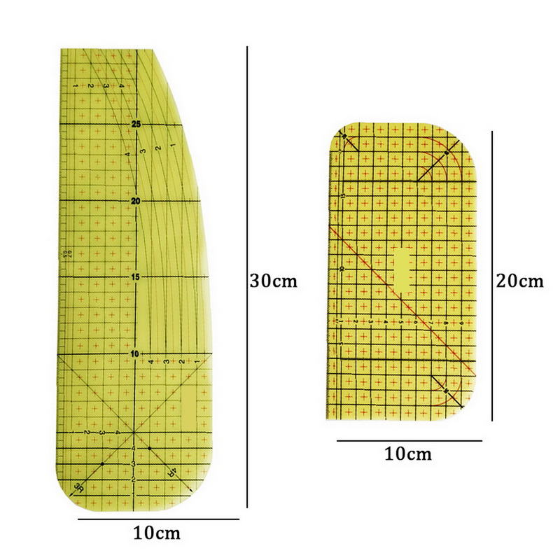 Ironing Ruler Measuring Tool Hot Patchwork  Craft Cloth Cutting Rulers Patchwork Ruler Quilting  Sewing Accessories-1