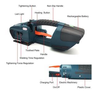 Image 5 - Портативная машина для обвязки аккумуляторов, электрический инструмент для обвязки полиэтиленовых лент