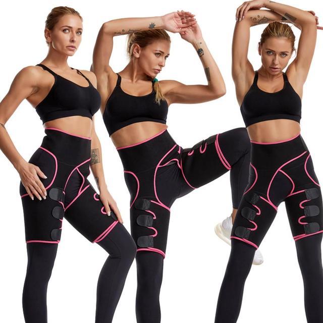 Womens Hip Belt Burst Sweat Plastic Belt Sports Bodybuilding Adjustable One-piece Waist Belt Leg Belt 4