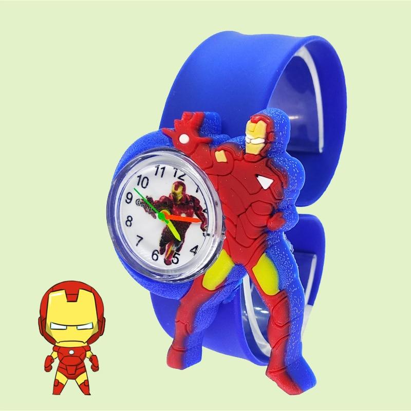 Superman Boys Watch For Kid Clock Iron Man Watch Children Kids Watches Child Bracelet Gift Relogio Infantil Montre Enfant D6001